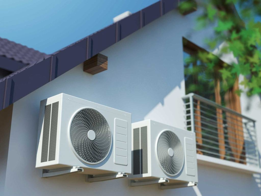 Ductless Mini-Split System on exterior of home